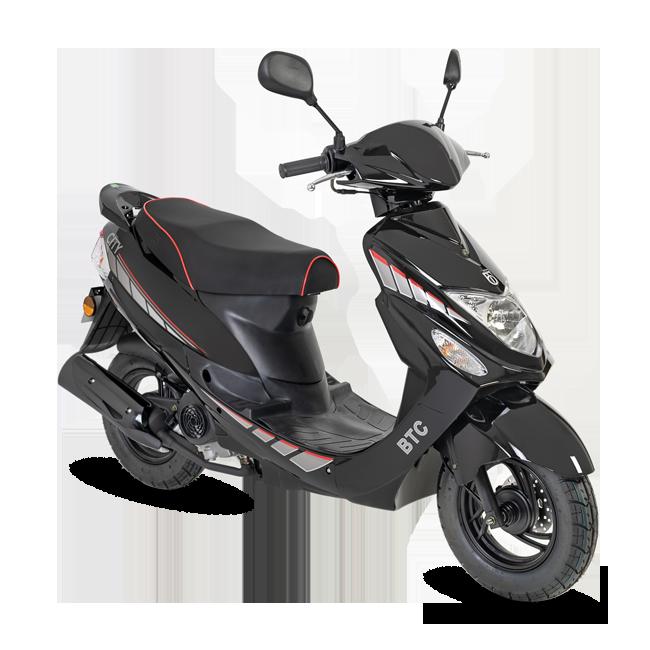 Voorbeeld gebruikte scooter